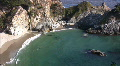 California Coasts Big Sur McWay Fall 12 LS Loop HD Footage
