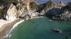 California Coasts Big Sur McWay Fall 12 LS Loop Stock Footage