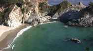 Stock Video Footage of California Coasts Big Sur McWay Fall 12 LS Loop
