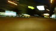 Stock Video Footage of time lapse night driving