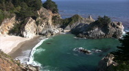 California Coasts Big Sur McWay Fall 13 Loop Stock Footage