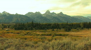 Grand Tetons in Fall Zoom In Stock Footage
