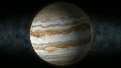 Planet jupiter 25 Stock Footage