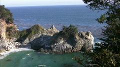 California Coasts Big Sur McWay Fall 21 Loop Stock Footage