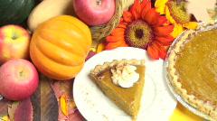 Thanksgiving Dessert Stock Footage