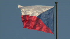 Czech national flag Stock Footage