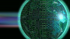 Global Data Com Networking Stock Footage