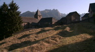Rural French village Stock Footage