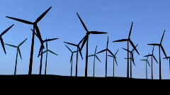 turbines with blue sky - stock footage