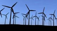 Turbines with blue sky Stock Footage