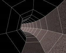 Textured Heptagon Tunnel (PAL) Stock Footage