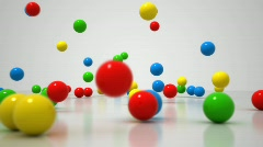 Stock Video Footage of Bouncing Balls