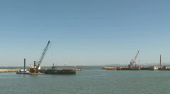 Port in construction Stock Footage