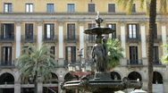 Stock Video Footage of Fountain at Placa Reial  Barcelona - 2