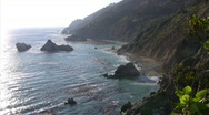 Stock Video Footage of California Coasts Big Sur Sunset 03 Loop