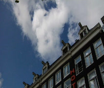 Amsterdam Hotel Roof top & gables Time Lapse Stock Footage