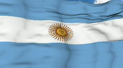 Flying flag of Argentina Stock Footage
