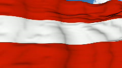 Flying flag of Austria Stock Footage