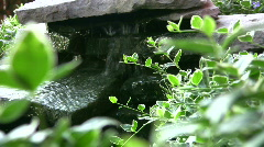 Vid002 trickling water over rocks Stock Footage