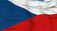 Flying flag of Czech Republic Stock Footage