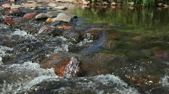 River Current Over Rocks – Close-up - stock footage