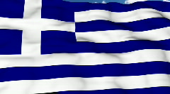 Flying flag of Greece Stock Footage