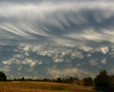 Timelapse of Mammatus Clouds Stock Footage