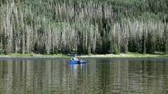 Duck Fork Reservoir fish float mountain P HD 1542 Stock Footage