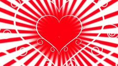 Love heart animation Stock Footage