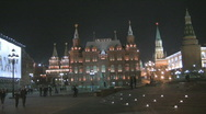 Night kremlin02d Stock Footage