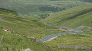 Stock Video Footage of Road through the dales in Swaledale North Yorkshire