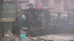 Toy Train in Ghum, Darjeeling, India Stock Footage
