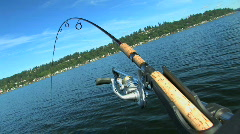 Fishing Pole in Rod Holder - stock footage