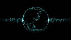 Electro Globe Stock Footage