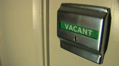 Vacant-Occupied Sign on Door - stock footage