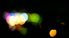 magic lights of night city - stock footage