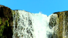 Pingvellir Waterfall Iceland Stock Footage