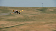 Stock Video Footage of crop duster