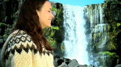 Icelandic Portrait Stock Footage