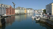 Stock Video Footage of Alesund Norway (no boats)