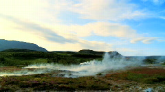 Geothermal Landscape Stock Footage