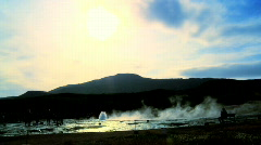 Geothermal geyser Stock Footage