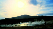 Stock Video Footage of Geothermal geyser