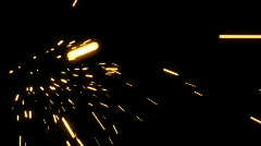 Sparks Element 02 (24fps) - stock footage