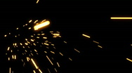 Sparks Element 02 (24fps) Stock Footage