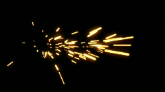 Stock Video Footage of Sparks Element 03 (25fps)