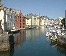 Alesund Norway Canal Time lapse Stock Footage