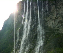 7 Sisters Waterfall Norway Stock Footage