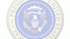 Presidential Seal 03 (30fps) Stock Footage