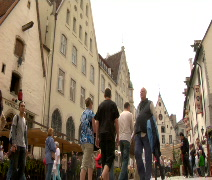 Tallinn Town Square Time Lapse Stock Footage